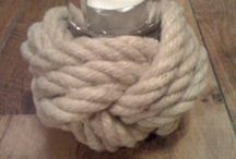 Handmade Products with Natural Rope / LAMPS , TEALIGHTS, and more