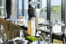 Restaurant & Bar / Dining facilities at the tip of the peninsula include DOX restaurant with classic regional cuisine, the self-service restaurant Café D as well as DOX Bar and Lounge with a wide range of beverages, classical snacks and local dishes.  / by Hyatt Regency Dusseldorf
