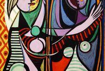 Pablo Picasso (1881-1973) / Espanjalainen maalaaja, kuvanveistäjä, keramiikko sekä lavasuunnittelija. Jälleen äärimmäisen lahjakas taiteilija monella alalla.