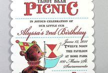 Teddy Bear Invites / Teddy bear picnic invite