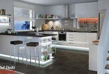 Cuisine éclairée / Ruban LED, spots LED, kits ciels étoilés. Voici des idées déco et de réalisation pour la cuisine