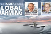 Karoly–Happer Dialogue on Global Warming / Choose your sides in this Global Warming debate: U.N advisor David Karoly (CO₂ is a threat) vs. U.S. Congress advisor William Happer (CO₂ is a benefit).