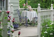 Pretty Porches, Decks & Patios / Photos of places we'd like to spend some time in - maybe entertaining, maybe reading a book, maybe even taking a nap...