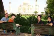 """VolSol Volunteers at Taj Mahal - Pick your best shot! / Yes we all love to pose, especially when it is outside """"The Taj"""""""