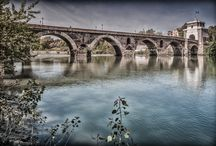 Bridges along the Tiber / Ancient and modern bridges over the Tiber in Rome