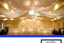Wedding Ceiling Decorations / Beautiful DIY kits for decorating wedding reception hall ceilings.  Lightweight and easy to assemble - everything you need in one kit.