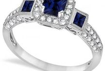 Sapphire Engagement Ring / View our beautiful selection of sapphire engagement rings in a variety of metals and styles. We offer sapphires in brilliant blues, pinks, and yellows.  / by Allurez