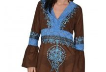 Long Sleeve Brown knee length dress