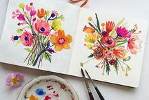 Watercolor : Flowers