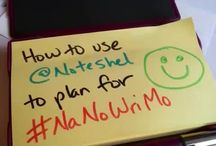 National Novel Writing Month (#NaNoWriMo) / It's National Novel Writing Month (#NaNoWriMo) in November! How are you preparing? We're making lots of notes...  #NaNoWriMo #writing #notes #notetaking #planning