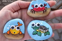 Children's rock painting