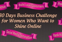 30 Days Business Challenge / 30 strategic steps to financial freedom will be revealed to you during this  30 day hand-held, action-oriented, home-based business growth challenge. Learn how to monetize your business, Learn to use the various social media platforms for business growth. Get your voice heard and attract your ideal clients