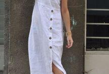 lino blanco con boton coco