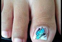 Diseños de uñas pies