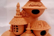 ceramics birdhouse