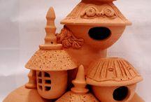 ceramics birdhouse