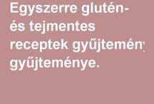 Glutén-laktóz stop receptek