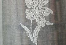 cotton lace panel curtains