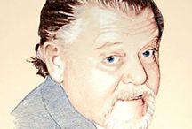 Portrait Zeichnung Buntstift