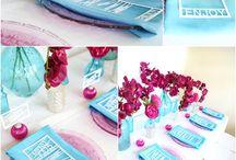 Turquoise and Fuschia Design