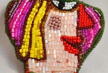 """MY WORK. Collection """"Women Portraits"""" / Beaded Brooch """"Women Portraits"""". Collection participated in the exhibition Beaded Design 2013 (Moscow) and in the exhibition """"Colors of the soul"""" in 2013 (Minsk, Belarus). As well as more recent work on women's portraits"""