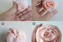 kwiaty z materialu