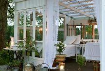 Entertainment area in garden