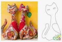 Art com quane / Soft toy pussy cats