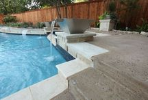 Water Features by Outdoor Signature / Outdoor Signature in Argyle, Texas creates beautiful water features. Examples of how different water features are used in swimming pools and garden areas.