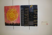 """City Lights"" Challenge / Etobicoke Quilters' Guild currently has a show hanging in the hall gallery at Neilson Park Creative Centre in Toronto. The theme is ""City Lights"" and viewer's choice voting will continue for three weeks."