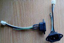 Socket AC 3PIN + kabel Arde ground