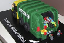Camion poubelle gateau