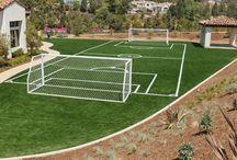 cesped artificial futbol / Tablero con imagenes relacionadas con el #cespedartificialfutbol tanto en campos deportivos municipales como en proyectos de #jardines privados