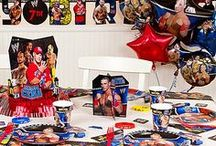 WWE Party Ideas / Step up to the ring and deliver one knockout birthday party for your son this year! Bring the WWE universe into your party room with party décor, superstar snacks and more! Our birthday party ideas are sure to be a 3...2...1...VICTORY! / by Party City