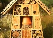 Insecthotel + animals in the garden