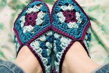 Crochet Slippers / These look so cool.
