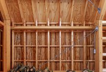 Wooden roof structures