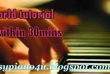 Piano Tutorials / piano tutorial made very easy with tips, fact, latest piano info. visit www.easypiano4u.blogspot.com