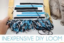 Weaving / Weaving ideas we'd love to try at Fiberton Acres | Ways to use yarn from our mini fiber farm.