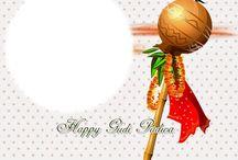 Gudi Padwa Photo Frame Greetings