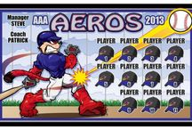 Printed Baseball/Softball Banners / This is a sample collection of FASteambanners' Custom Designed Printed Vinyl soccer team banners. Visit us at FASteambanners.com. You can also browse 1000's of samples by category on our website.