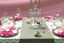 LOVE / Idée décoration de table romantique #love #romantique #déco