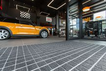 Product: INTRAtech / An exceptional Entrance Matting system for superb aesthetics and excellent performance in all high traffic areas. This unique product ensures an unparalleled design statement in every entrance.  Find technical specifications at INTRAmatting.com/products/intratech/