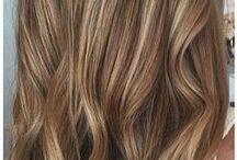 braun hair with blonde highlights