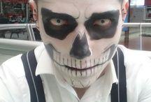 Maquillaje Halloween / Una muestra de los trabajos varios realizados en la temporada de halloween.