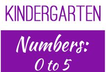 Kindergarten: Numbers 0 to 5 / This board contains resources for Texas TEKS K.2A, K.2B, K.2C, K.2D, K.2E, K.2F, K.2G, K.2H