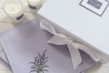 Home Accessories / New for spring / summer lavender napkins and votive home gift set