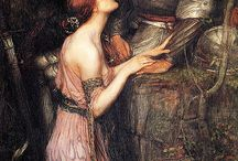 "John William Waterhouse / he was an English painter known for working in the Pre-Raphaelite style. He worked several decades after the breakup of the Pre-Raphaelite Brotherhood, which had seen its heyday in the mid-nineteenth century, leading to his sobriquet ""the modern Pre-Raphaelite"". Borrowing stylistic influences not only from the earlier Pre-Raphaelites but also from his contemporaries, the Impressionists, his artworks were known for their depictions of women from both ancient Greek mythology and Arthurian legend."