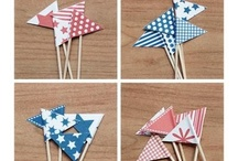 Cake decor: flags, toppers