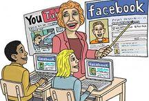 """Trabajo de clase / Este es un tablero compartido. Me gustaría que todo aportáramos nuestro granito de arena buscando alguna imagen con contenido o solo la imagen que tenga relación con el siguiente tema: """"Las redes sociales en nuestro tiempo"""""""
